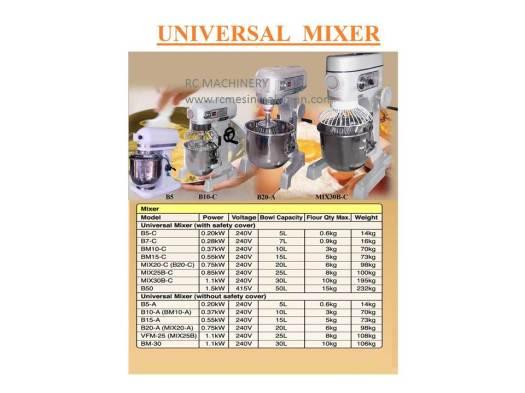 universal mixer, pengadun tepung, mesin membuat kuih dan roti mixer B-10 B-20 B-30 B-50,Baker Flour Mixer