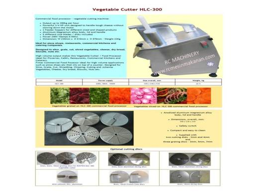 vegetable cutter, HLC-300, cutter, mesin memotong sayur, bawang dan kentang