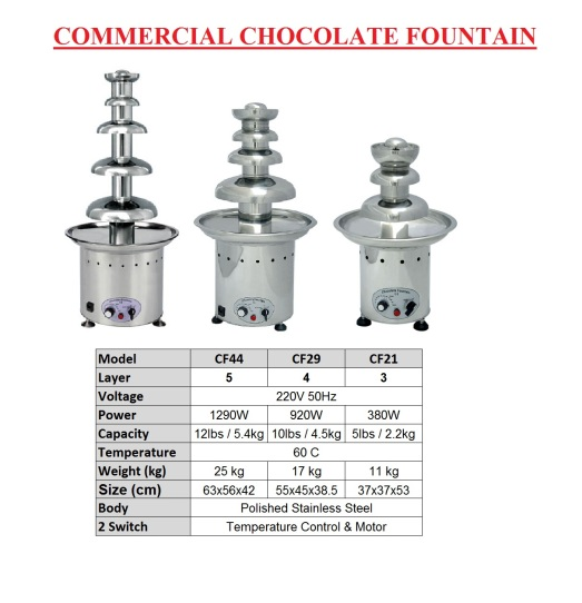 13.Chocolate   Fountain - comercial