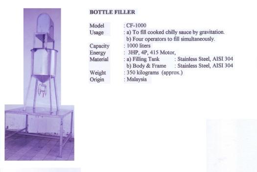 Chilly filler Bottle CF1000