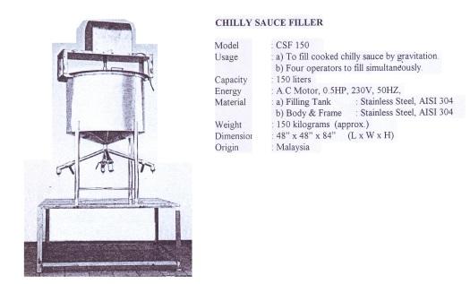 Filler Chilly Sauce Filler-CSF 150