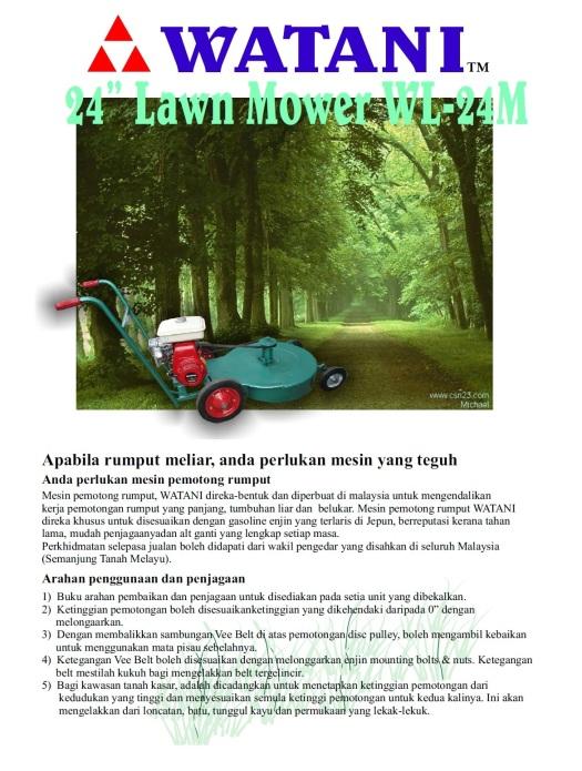 lawn mower WL-24M