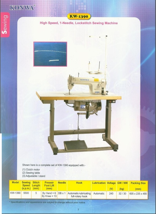 Sewing machine KW-1390