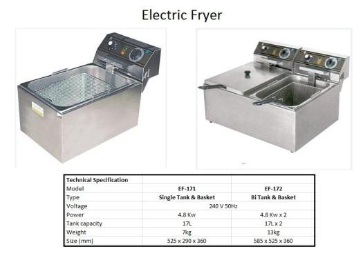 F1 Electric Fryer - Big