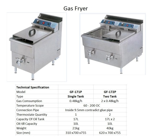 F1 Gas Fryer - Big
