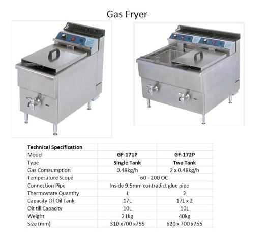 F1 Gas Fryer - Big