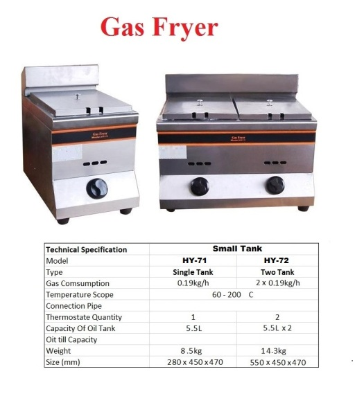 F1 Gas Fryer - Small