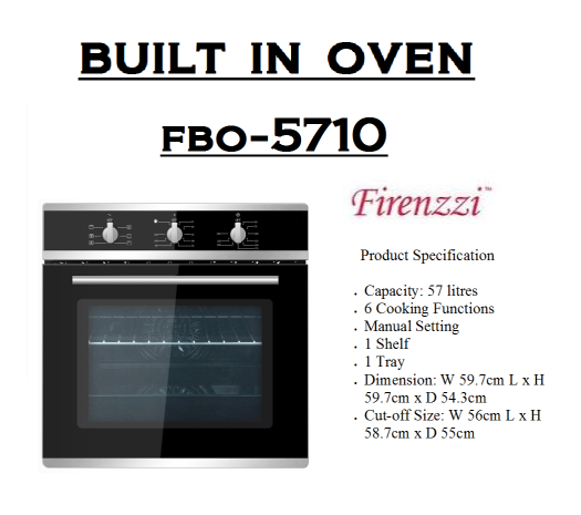 built in oven-FBO-5710(Ketuhar Terbina)