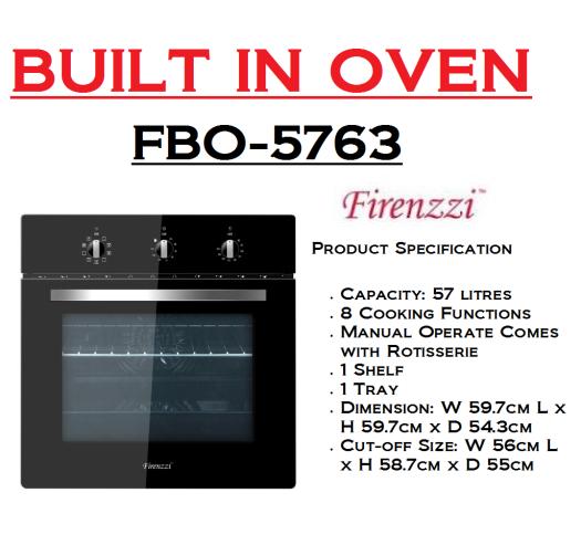 built in oven-FBO-5763(Ketuhar Terbina)
