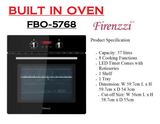 built in oven-FBO-5768(Ketuhar Terbina)