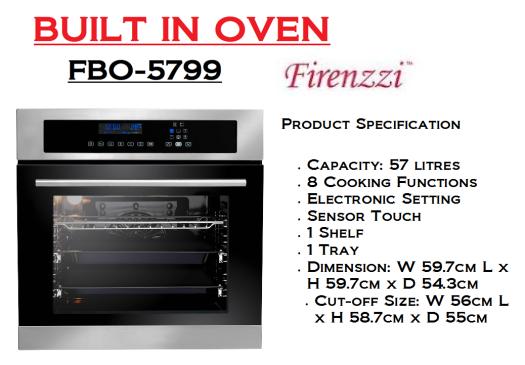 built in oven-FBO-5799(Ketuhar Terbina)