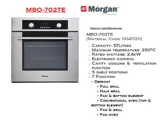 oven MBO-702TE(Ketuhar)