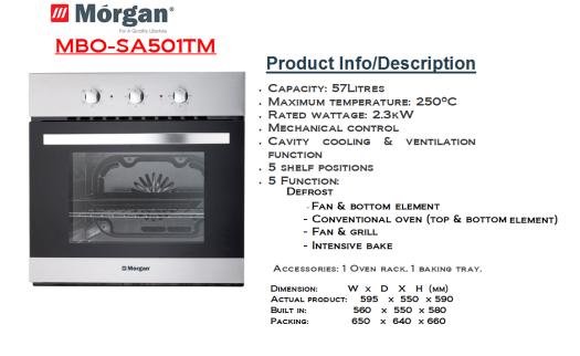 oven MBO-SA501TM(Ketuhar)