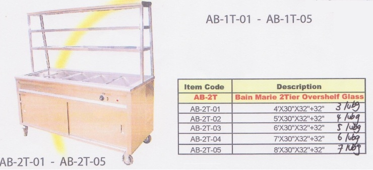 02 Bain Marie 2Tier Overshelf Glass