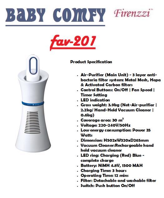 baby comfy FAV-201(Penapis Udara)