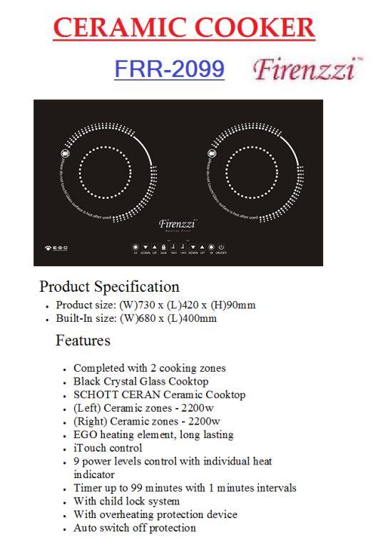 ceramic cooker FRR-2099(Dapur Seramik)