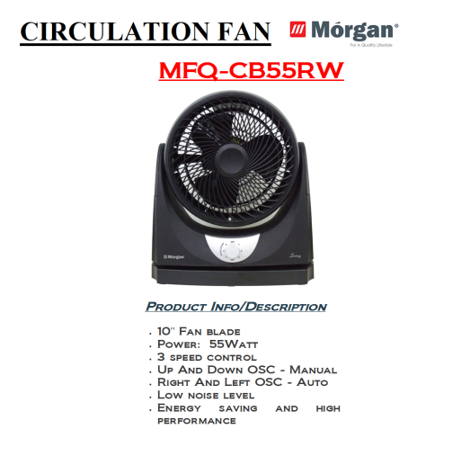 circulation fan MFQ-CB55RW(Kipas)