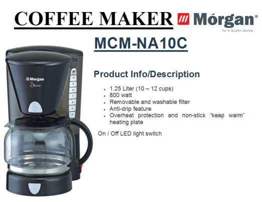 coffe maker MCM-NA10C(Pembuat Kopi)