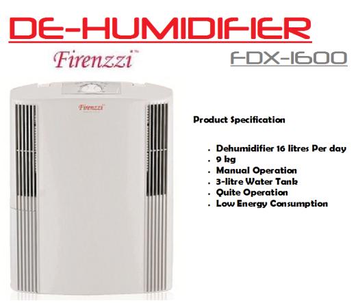 de-humidifier- FDX-1600(Penyahlembap Udara)