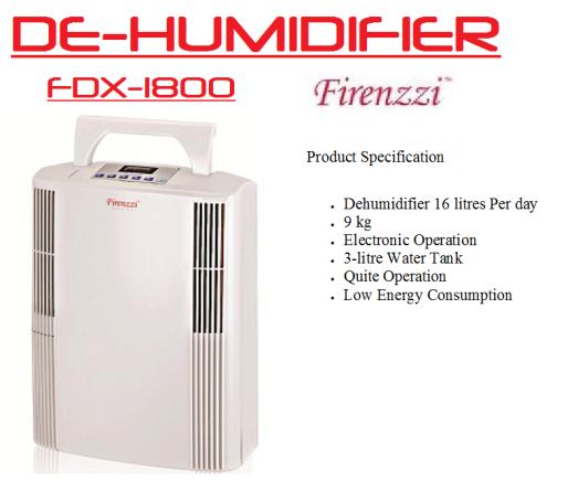 de-humidifier- FDX-1800(Penyahlembap Udara)