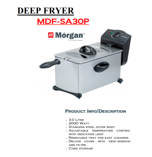 deep fryer-MDF-SA30P(Mesin Penggoreng)
