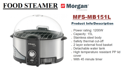 food steamer MFS-MB151L(Pengukus Makanan)