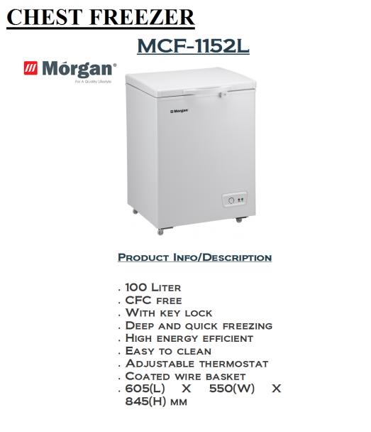 freezer MCF-1152L(Peti Pembeku)