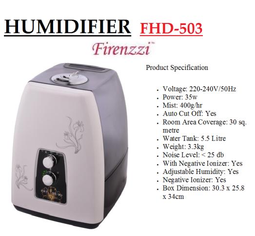 humidifier- FHD-503(Pelembap Udara)