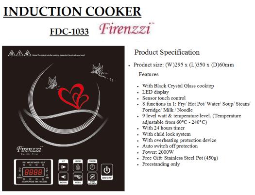 induction cooker FDC-1033(Dapur Induksi)