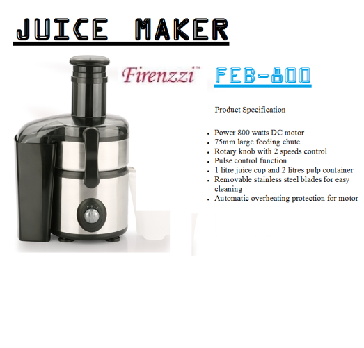 juice maker-FEB-800(Pembuat Jus)