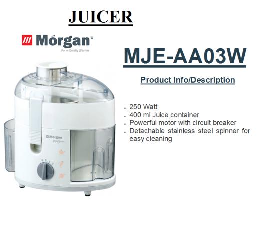 juicer MJE-AA03W(Pembuat Jus)