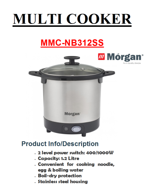 multi cooker MMC-NB312SS(Periuk Serba Guna)