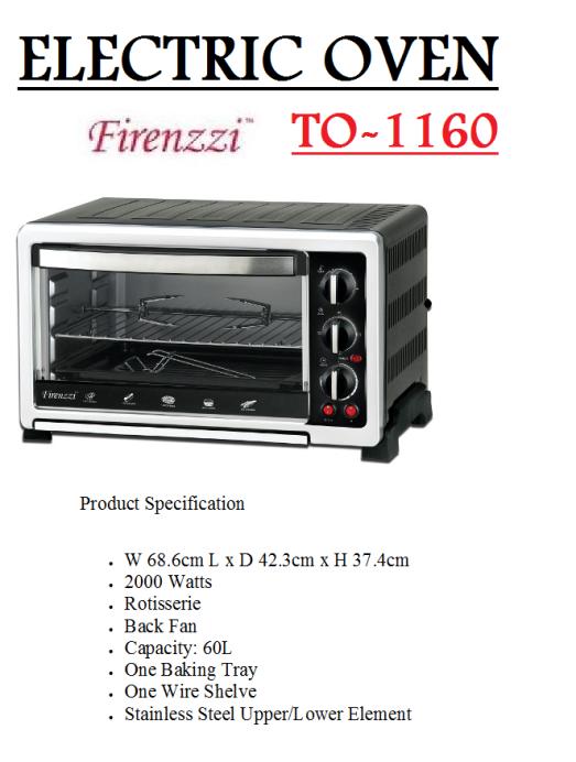 oven letrik TO-2060(Ketuhar)