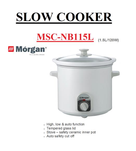 sloe cooker MSC-NB115L(Periuk Elektrik)
