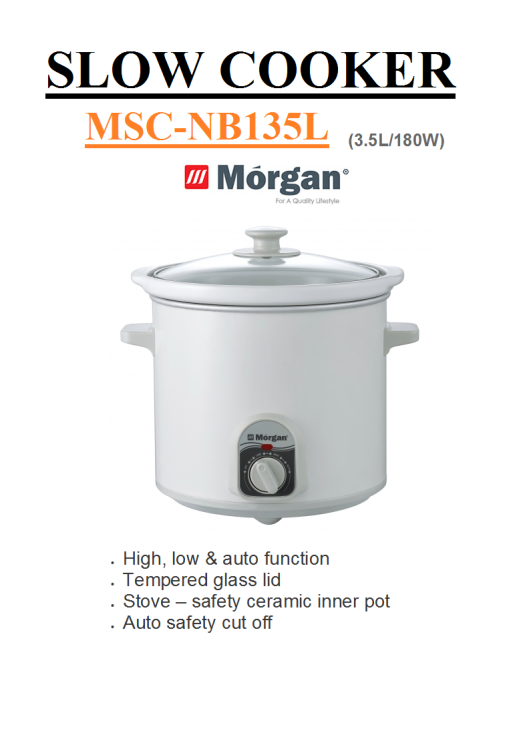 slow cooker MSC-NB135L(Periuk Elektrik)