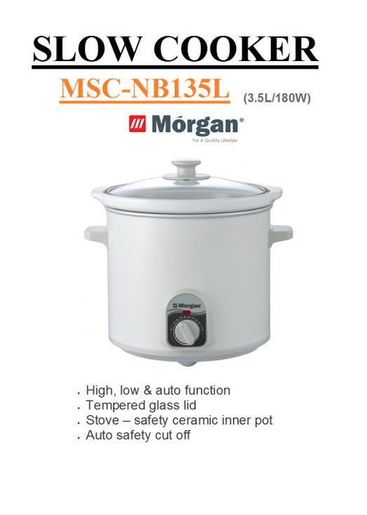 slow cooker MSC-NB135L(Periuk Elektrik)