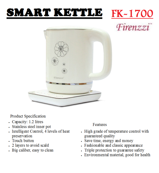 smart kettle FK-1700(Cerek Elektrik)