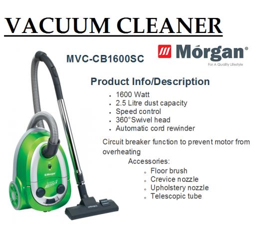 vacuum cleaner MVC-CB1600SC(Penyedut Hampagas)