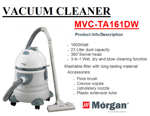 vacuum cleaner MVC-TA161DW(Penyedut Hampagas)
