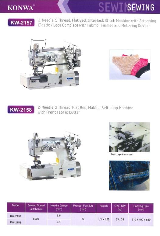 3 needle 5 thread flat bed interlock stitch machine with attaching elastic lace complete with fabric trimmer 3 5 jarum benang katil rata mesin saling kunci jahitan dengan melampirkan renda elastik