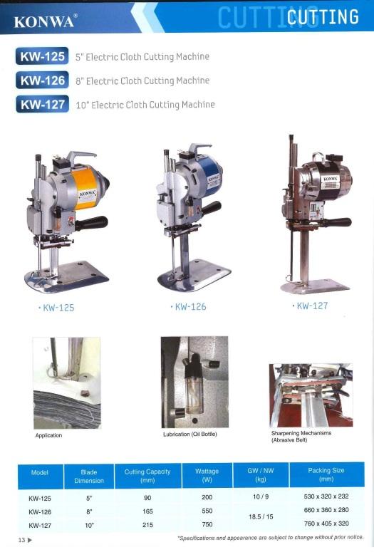 cutting 5'electric cloth cutting machine 8'electric  cloth cutting machine 10'electric cloth