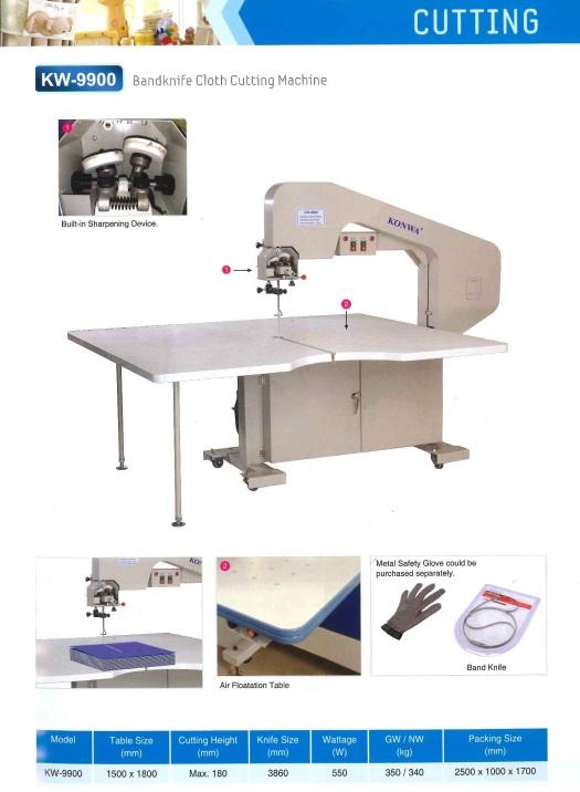 cutting band knife cloth cutting machine pisau band mesin pemotong kain