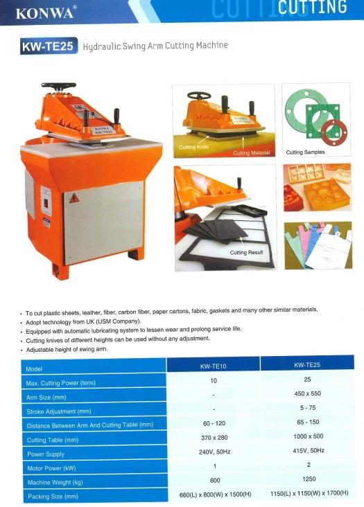 cutting hydraulic swing arm cutting machine memotong hidraulik swing mesin pemotong lengan