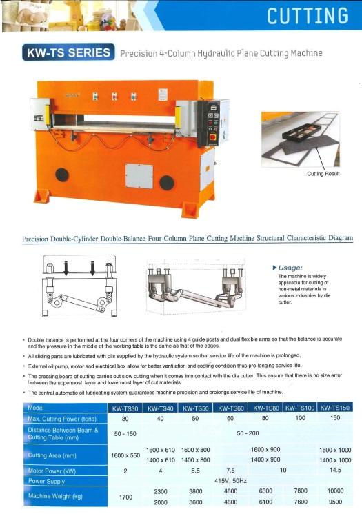 cutting precision 4-column hydraulic plane cutting machine pemotongan ketepatan 4-tiang pesawat hidraulik mesin pemotong