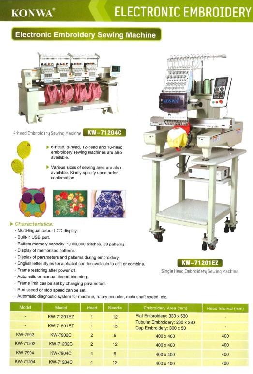 electronic embroidery sewing machine sulaman elektronik mesin jahit