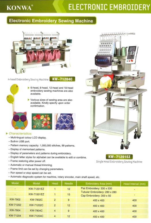 electronic embroidery sewing machine sulaman elektronik mesin jahit