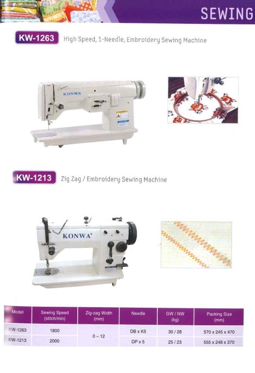 high speed 1 needle embroidery sewing machine and zig zag embroidery sewing machine kelajuan tinggi 1 jarum mesin jahit sulaman dan zig zag sulaman mesin jahit