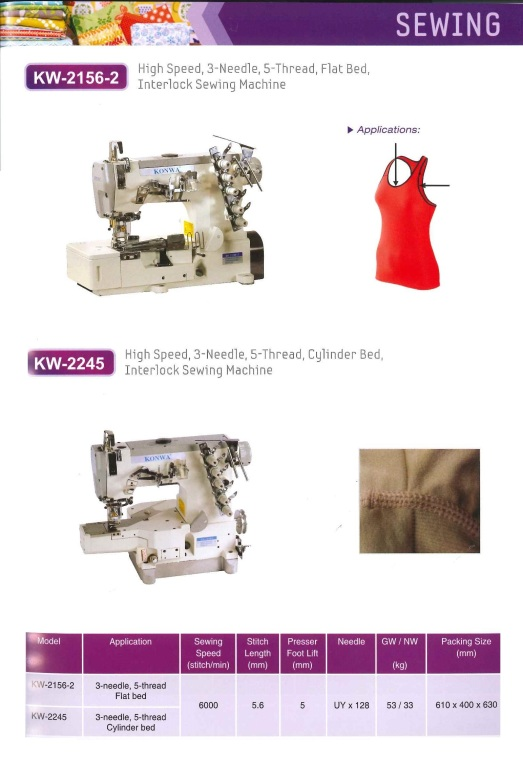 high speed 3 needle 5 thread flat bed interlock sewing machine and high speed 3 needle 5 thread cylinder bed interlock sewing machine kelajuan tinggi 3 jarum mesin 5 thread katil rata saling kunci jahitan