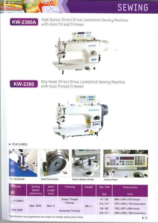 high speed,direct drive,lock stitch sewing machine with auto thread trimmer and dry-head direct drive lock stitch sewing machine with auto thread trimmer kelajuan tinggi, memandu langsung, kunci mesin jahi