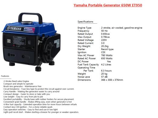 generator-yamaha-et-950